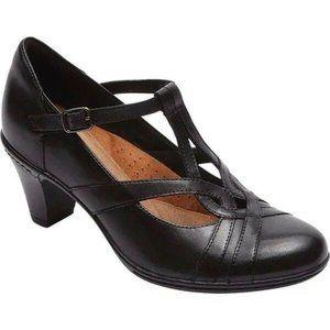 Rockport Cobb Hill Marilyn T-Strap Black Leather